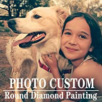 Custom Diamond Painting Kits for Adults with Your Photos,Full Drill Round, Customized Diamond Painting Private Gifts…
