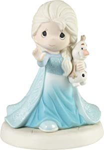 Precious Moments 193053 Disney Showcase Frozen There's Snow One Like You Bisque Porcelain Figurine, Size, Multicolor