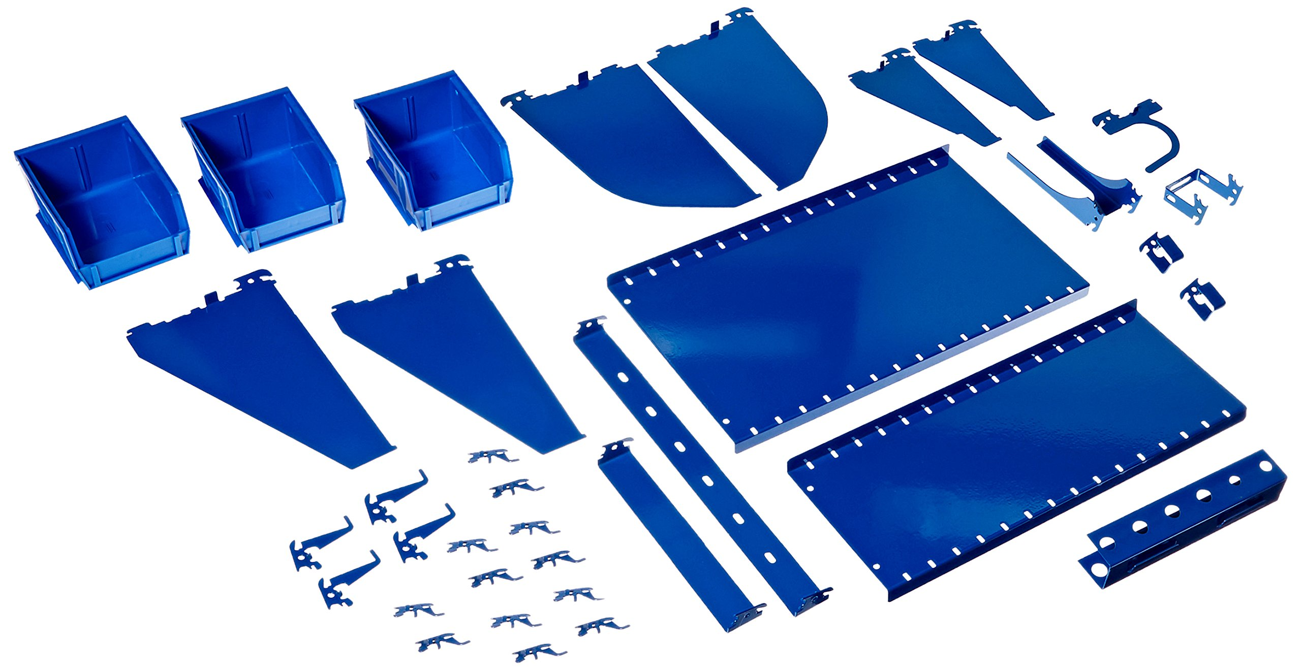 Wall Control KT-400-WRK BU Slotted Tool Board Workstation Accessory Kit for Pegboard Only, Blue
