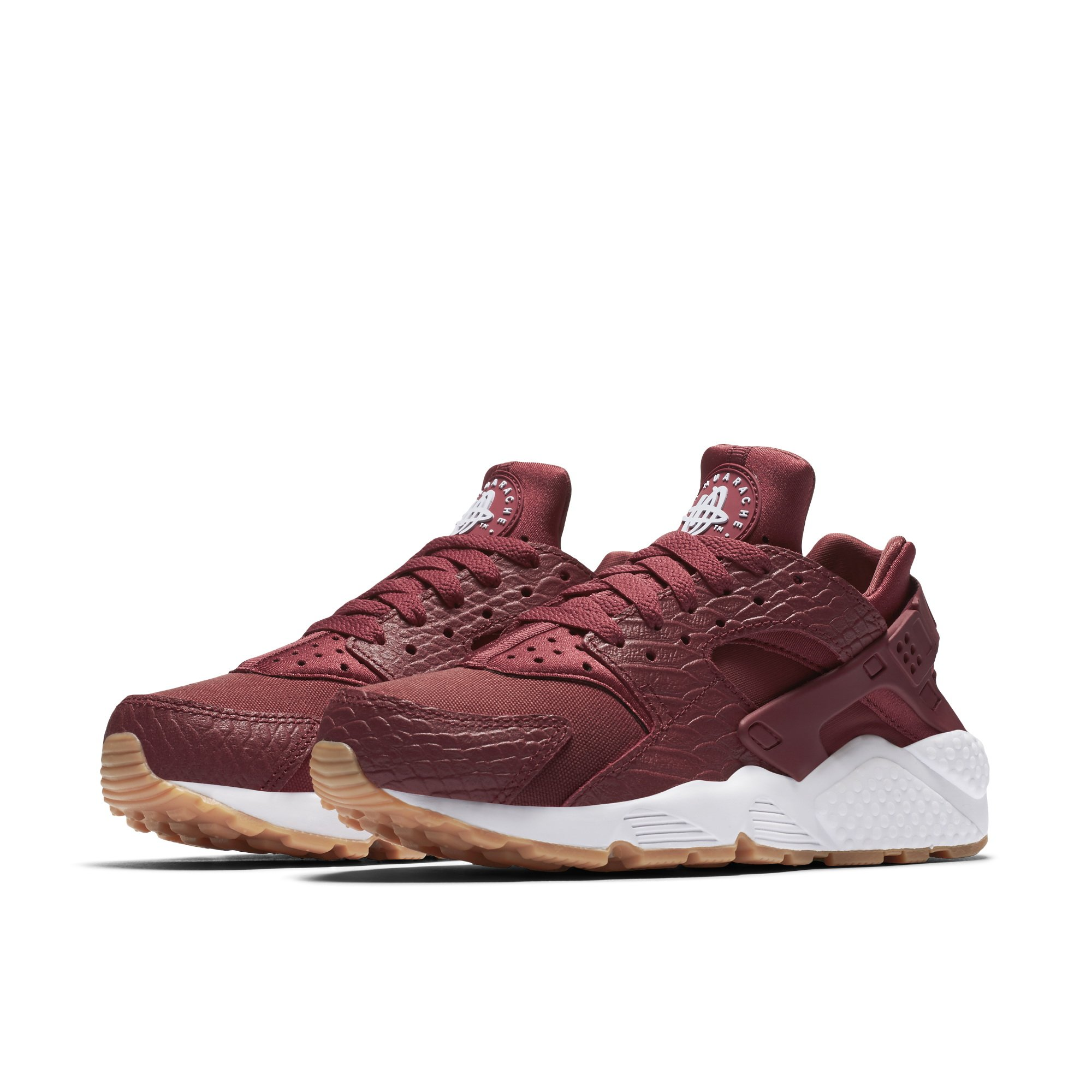the best attitude 9e5ee e3bbd Galleon - NIKE Air Huarache Run SE Cedar Cedar-Gum Yellow-White (Womens)  (9.5 B(M) US)