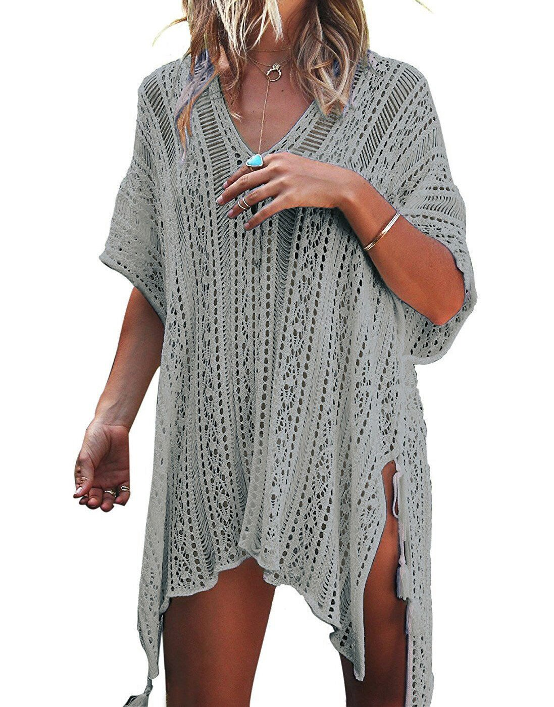 LAVENCHY Women Summer Swimsuit Bikini Beach Swimwear Crochet Cover up