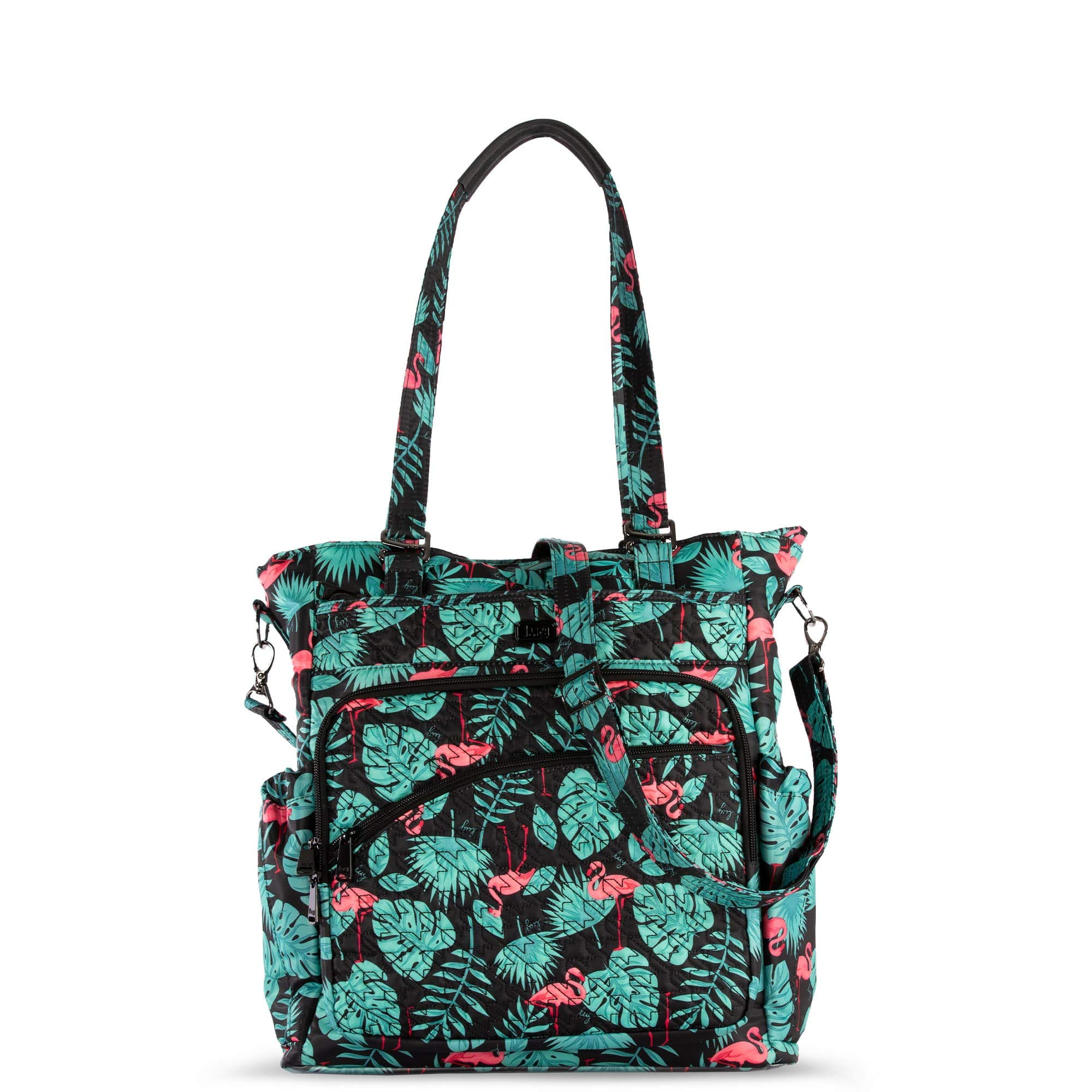 Lug Women's Ace 2 Convertible Travel Tote, Flamingo Black, One Size