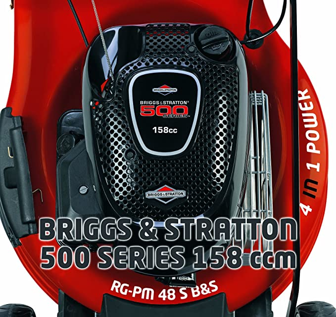 Einhell RG-PM 48 S B&S - Cortacésped (Manual lawnmower, 48 cm, 60 L, 1900 W, Gasolina, 2,6 CV): Amazon.es: Bricolaje y herramientas