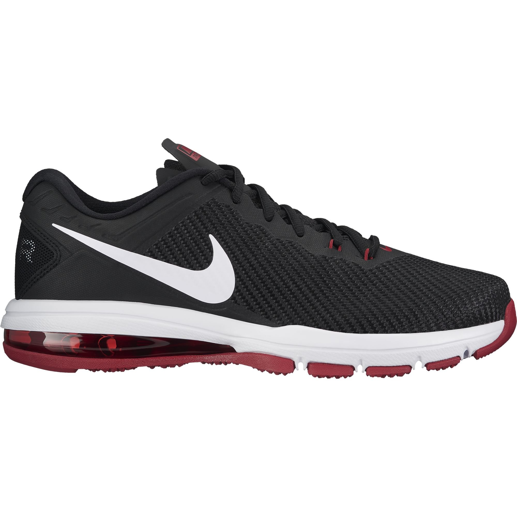 hot sale online 226e2 9ea37 Galleon - Nike Men s Air Max Full Ride TR 1.5 Training Shoe Black White Tough  Red Size 14 M US