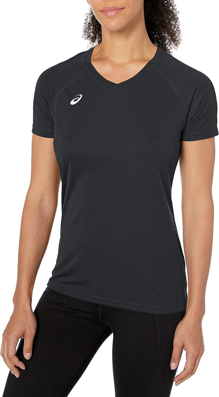 ASICS Circuit 8 - Camiseta de calentamiento para mujer