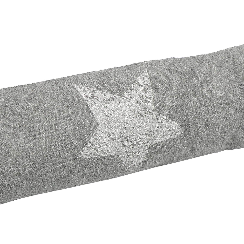 com-four® Tope de Tiro, Cortavientos con Estrellas, 87 x 10 cm (01 Piezas - Estrella Gris Claro V2)