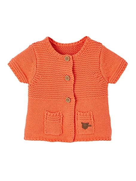 VERTBAUDET Chaqueta de punto tricot mezclado para bebé niña Naranja 24M: Amazon.es: Ropa y accesorios