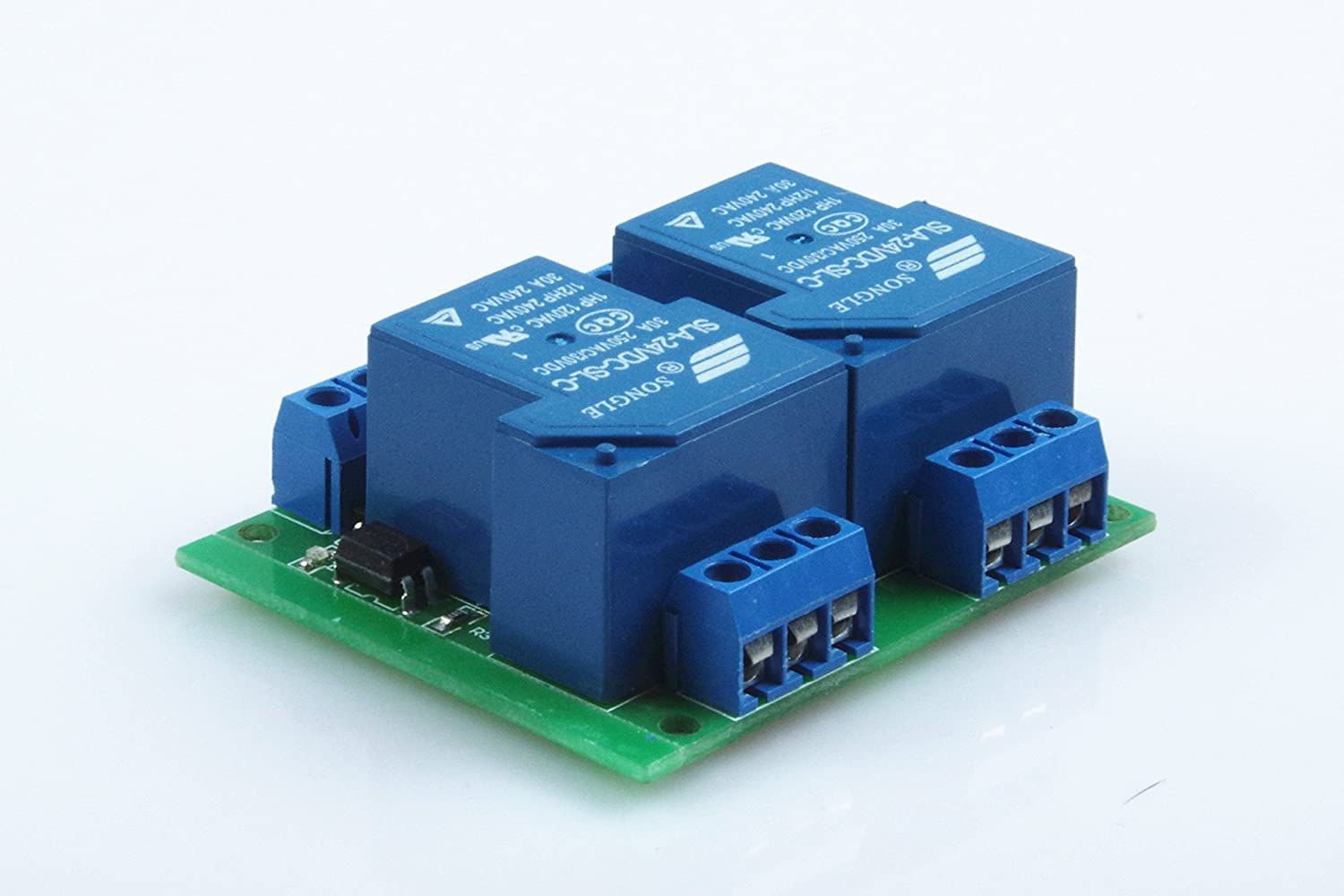 Knacro Dc 24v Sla 24vdc Sl C Ac 250v 30a Dual Dc5v To Dc30v Converter By 74hc14 Relay Module Two Way 2 Optocoupler Isolation Home Audio Theater
