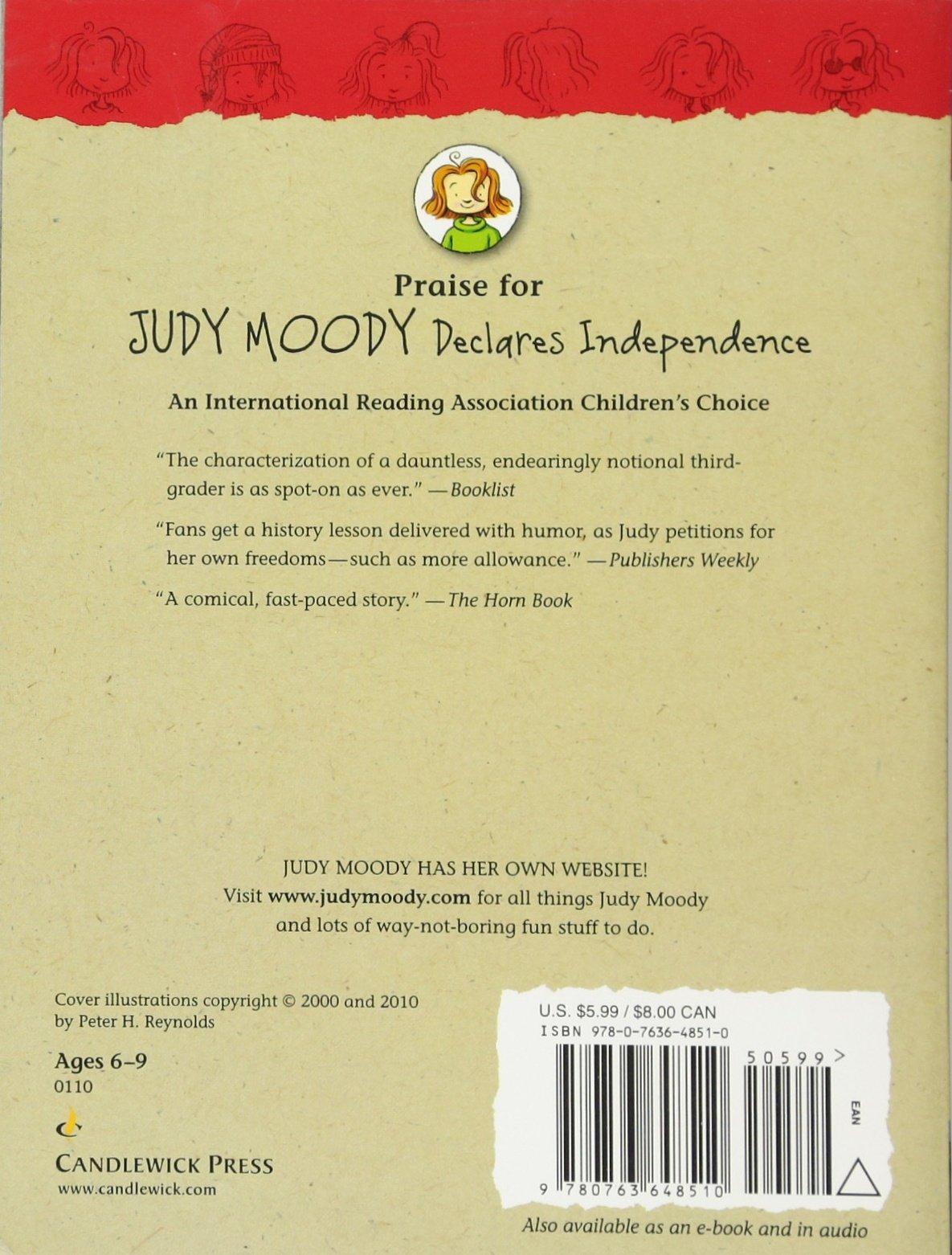 amazon com judy moody declares independence 9780763648510
