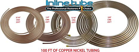 "CN3 3//16/"" Copper Nickel Brake Line  5  Pack  Easy Bend Easy Flare  25Ft Roll"