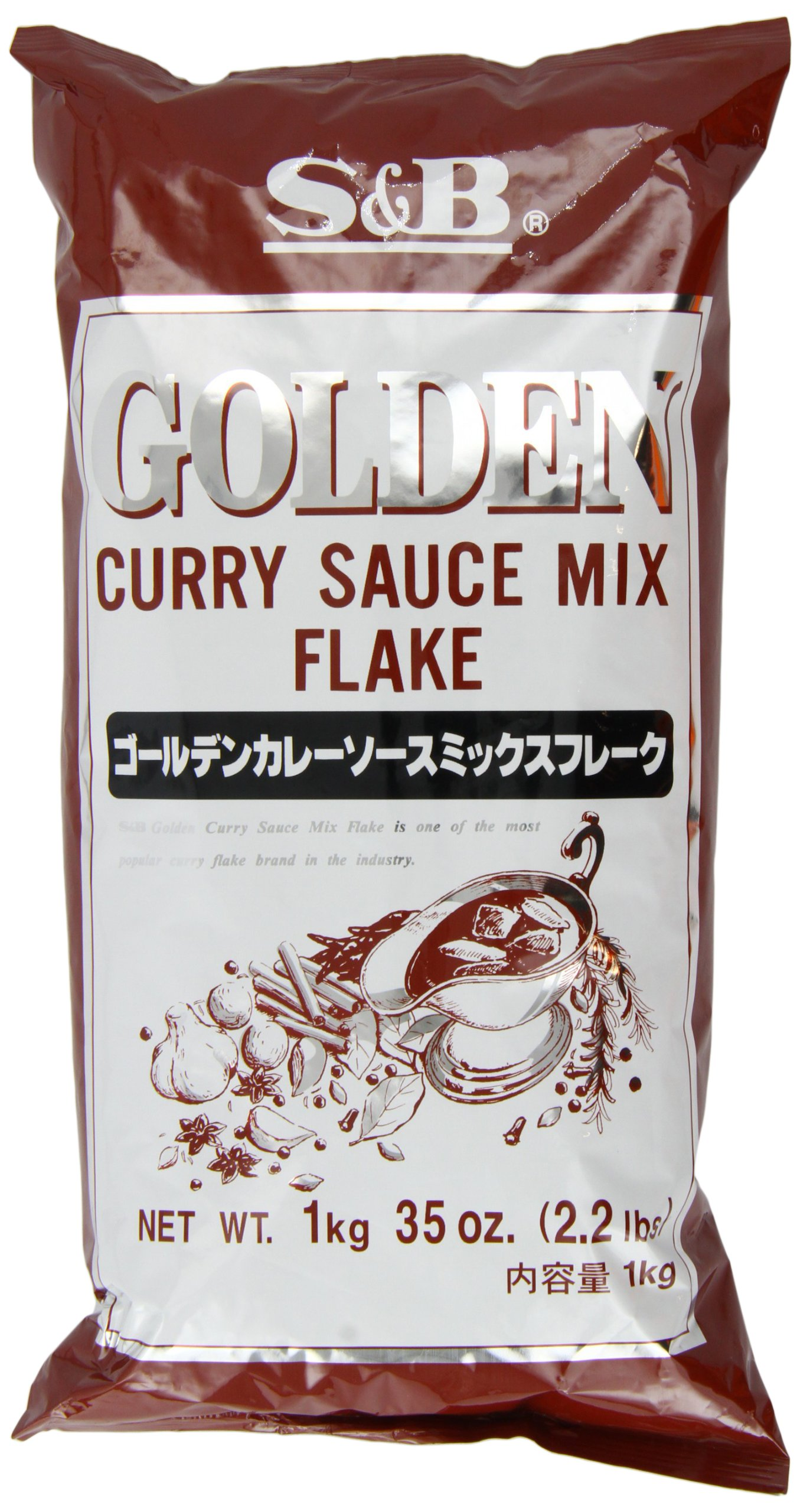 S & B Golden Curry Sauce Mix, Flake, 2.2-Pound Units (Pack of 2)