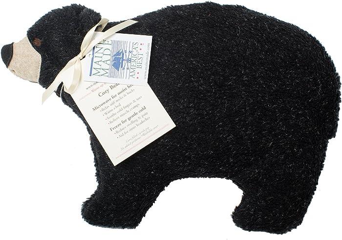 Maine Warmers Black Bear Microwave Corn Filled Heating Pad - Heat or Freeze!