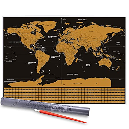 Great world map vitutech personalised world map adventure scratch great world map vitutech personalised world map adventure scratch world map travel gift scratch off gumiabroncs Images