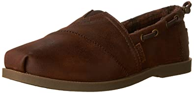 Skechers BOBS from Women's Chill Luxe - Buttoned up Flat, Brown, ...
