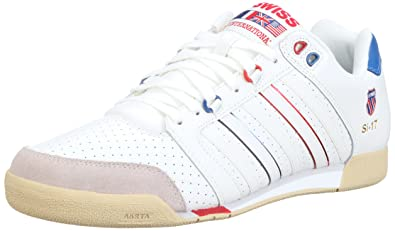 8b2e5aedcd58 K-Swiss Herren SI-17 Sneaker, Weiss White Classic Blue Red  Gravilla ...