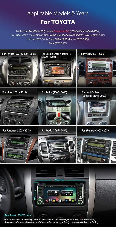 XTRONS 6,2 pulgadas Android 7.1 HD pantalla digital multitáctil coche estéreo reproductor de DVD Radio OBD2 Wifi para Toyota RAV4 Corolla: Amazon.es: ...