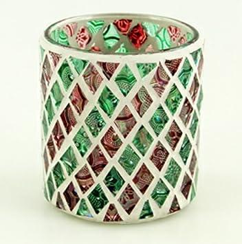Goldbach Windlicht Windlichthalter Teelichthalter Glas Mosaik