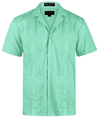 91031bbd57a Ward St Men s Short Sleeve Cuban Guayabera at Amazon Men s Clothing ...