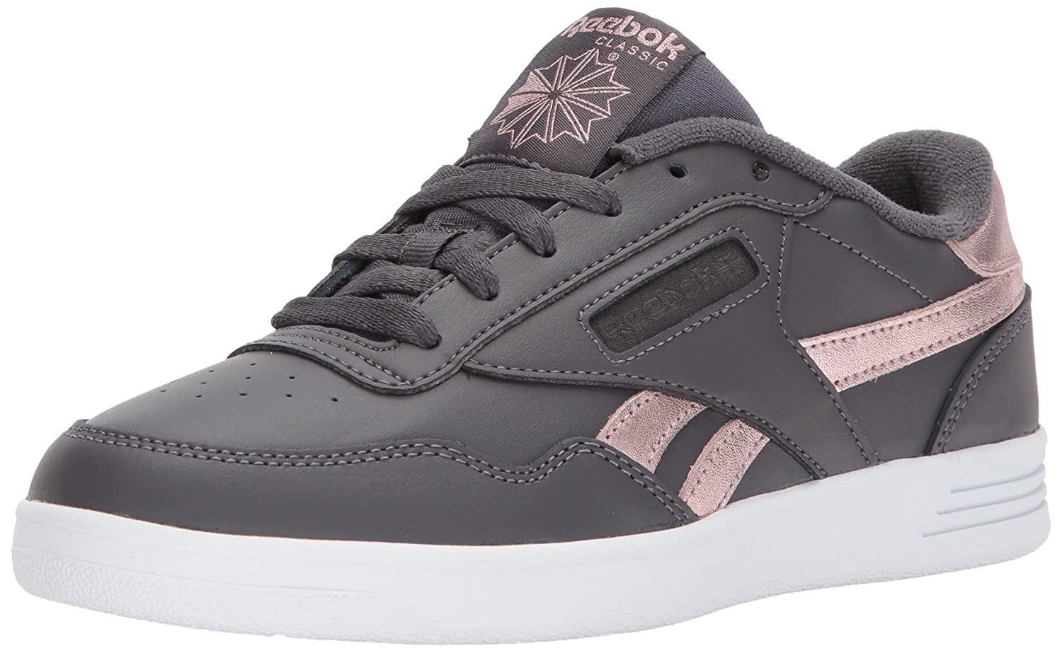 Reebok Women's Club MEMT Sneaker B06ZZ4MZBZ 10 B(M) US|Us-ash Grey/Rose Gold/White