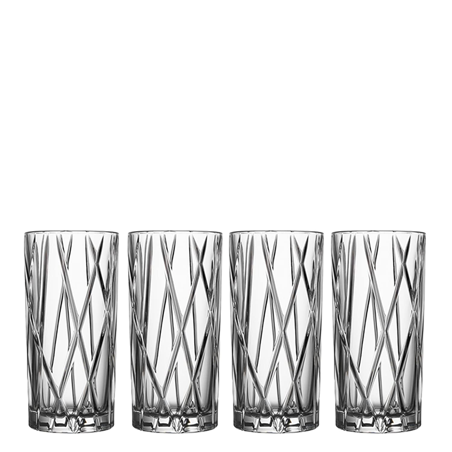 Orrefors City 11.6 Ounce Highball Glass, Set of 4 NA