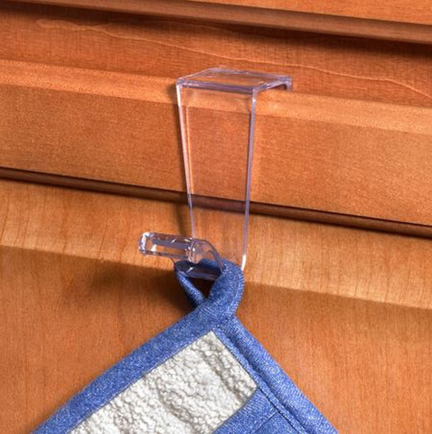 Spectrum Diversified 89550 Clear Single Plastic Over the Cabinet Hook