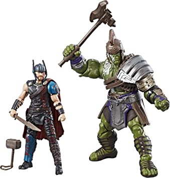 Marvel Legends Thor: Thor Ragnarok 9,5 x y Hulk 2-Pack: Amazon.es: Juguetes y juegos