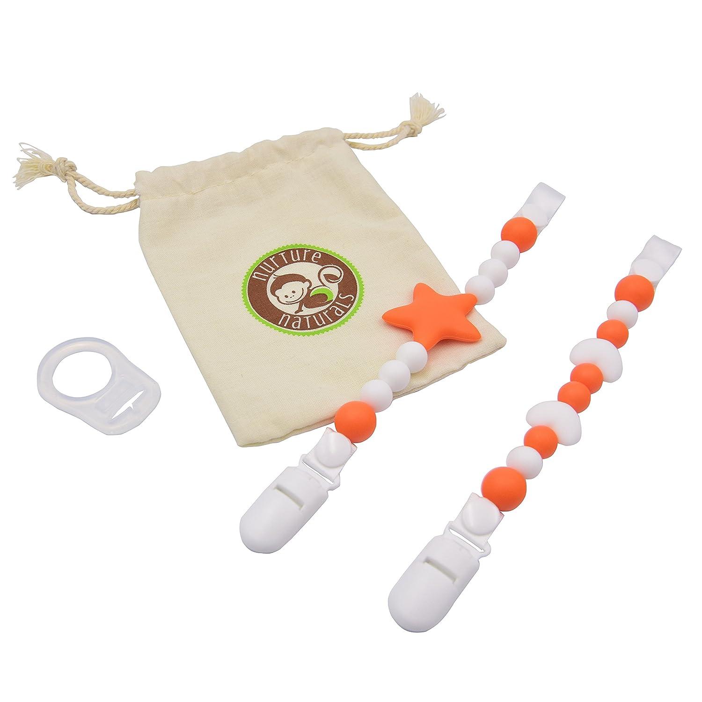 Cadena para chupete de niño/niña, paquete de 2 unidades ...