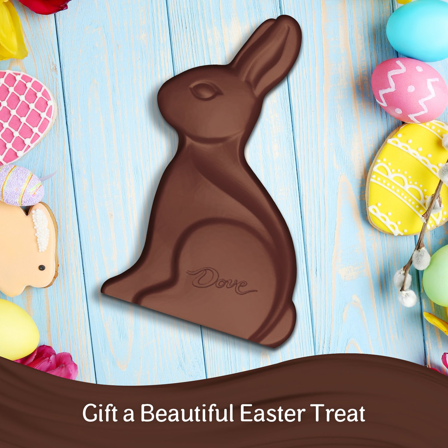 Dove milk chocolate solid easter bunny 12 ounce amazon dove milk chocolate solid easter bunny 12 ounce grocery gourmet food negle Images
