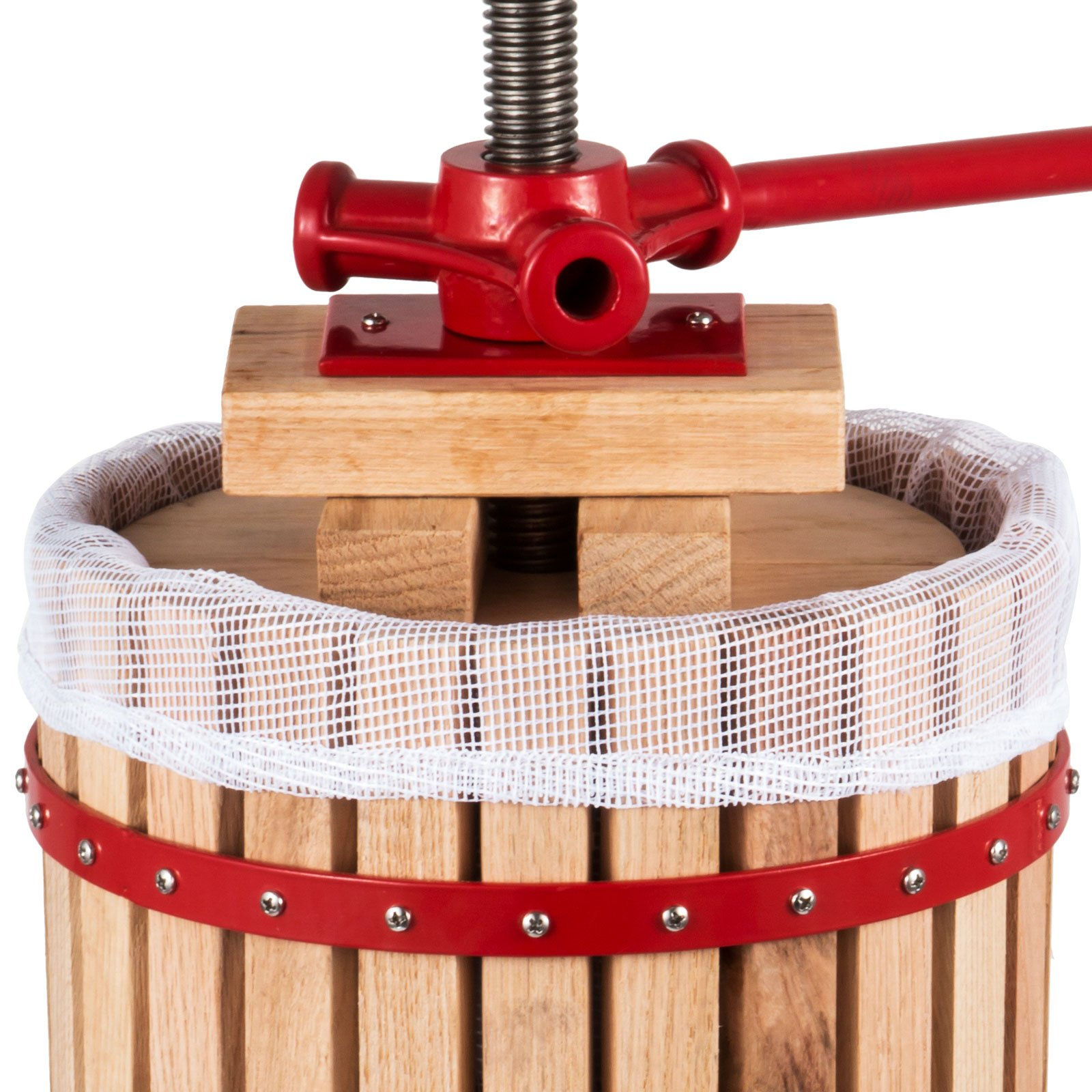 OrangeA 4.7 Gallon Fruit and Wine Press Solid Wood Basket Fruit and Wine Manual Press Press Cider Apple Grape Crusher Juice Maker (4.7 Gallon) by OrangeA (Image #6)