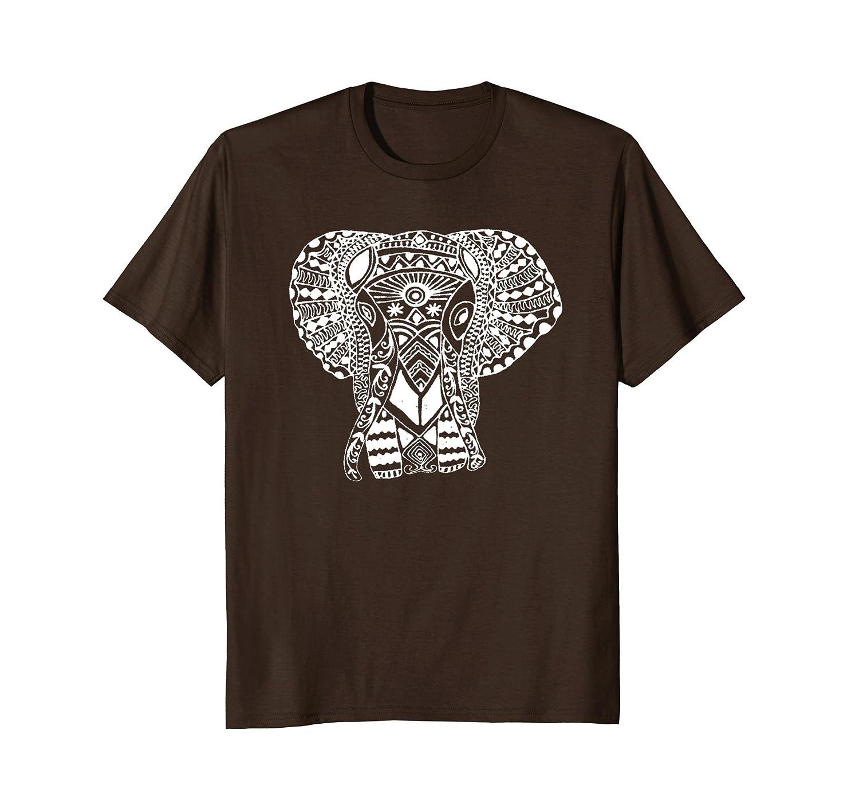 Boho Ethnic Tribal Bohemian Hippy Paisley Elephant T-Shirt-AZP