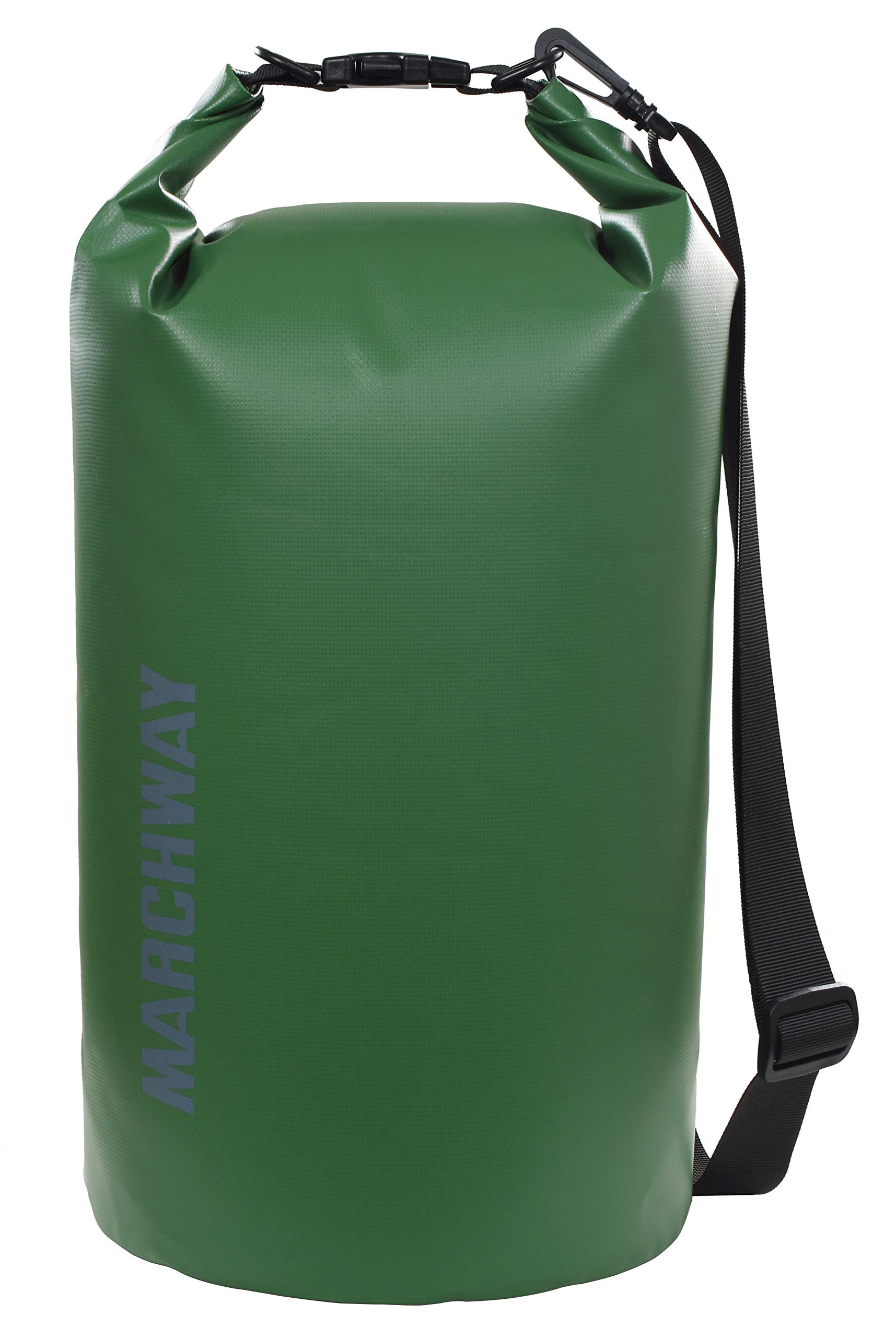 MARCHWAY Floating Waterproof Dry Bag 5L/10L/20L/30L/40L, Roll Top Sack Keeps Gear Dry for Kayaking, Rafting, Boating, Swimming, Camping, Hiking, Beach, Fishing (Dark Green, 30L) by MARCHWAY