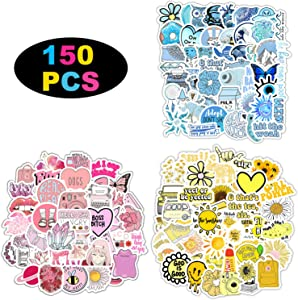 150 Stickers for Children Teens Girls Adults. Fresh and Girly Pink Sticker | Suitable for Water Bottles Laptops Phones Water Bottles Gift Boxes Waterproof Sunscreen Stickers Can Be Pasted Repeatedly