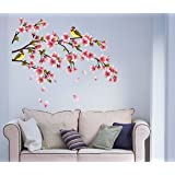 StickieArt - Pink Tulips On Branch Wall Decal - Medium - 50 x 70 cm - STA-155