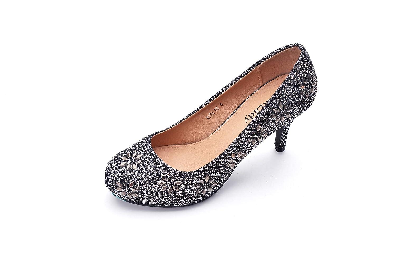 6da6ad0aeb2 Mila Lady MAYRA06 Princess Sparkle Crystal Gem Rhinestone Glitter Formal  Pumps, Wedding Shoes Evening Dress Heels for Women