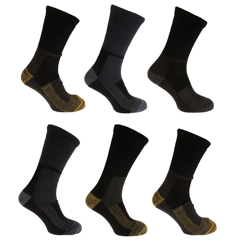 Severyn Calcetines t/érmicos para trabajar con lana hombre//caballero Pack de 6 Pares de calcetines