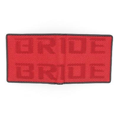 Kei Project Bride Racing Wallet Seat Fabric Leather Bi-fold Gradation (Bride-Red): Automotive