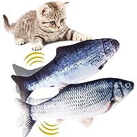 Hywean 2 stuks elektrische vis kat, kattenkruid vis speelgoed, kattenspeelgoed vis elektrisch beweegbaar, simulatie vis