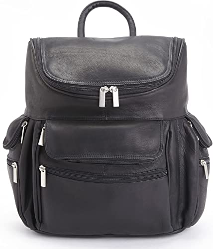 Royce Leather Executive 15 Laptop Backpack Handcrafted in Colombian Leather, Black, One Size