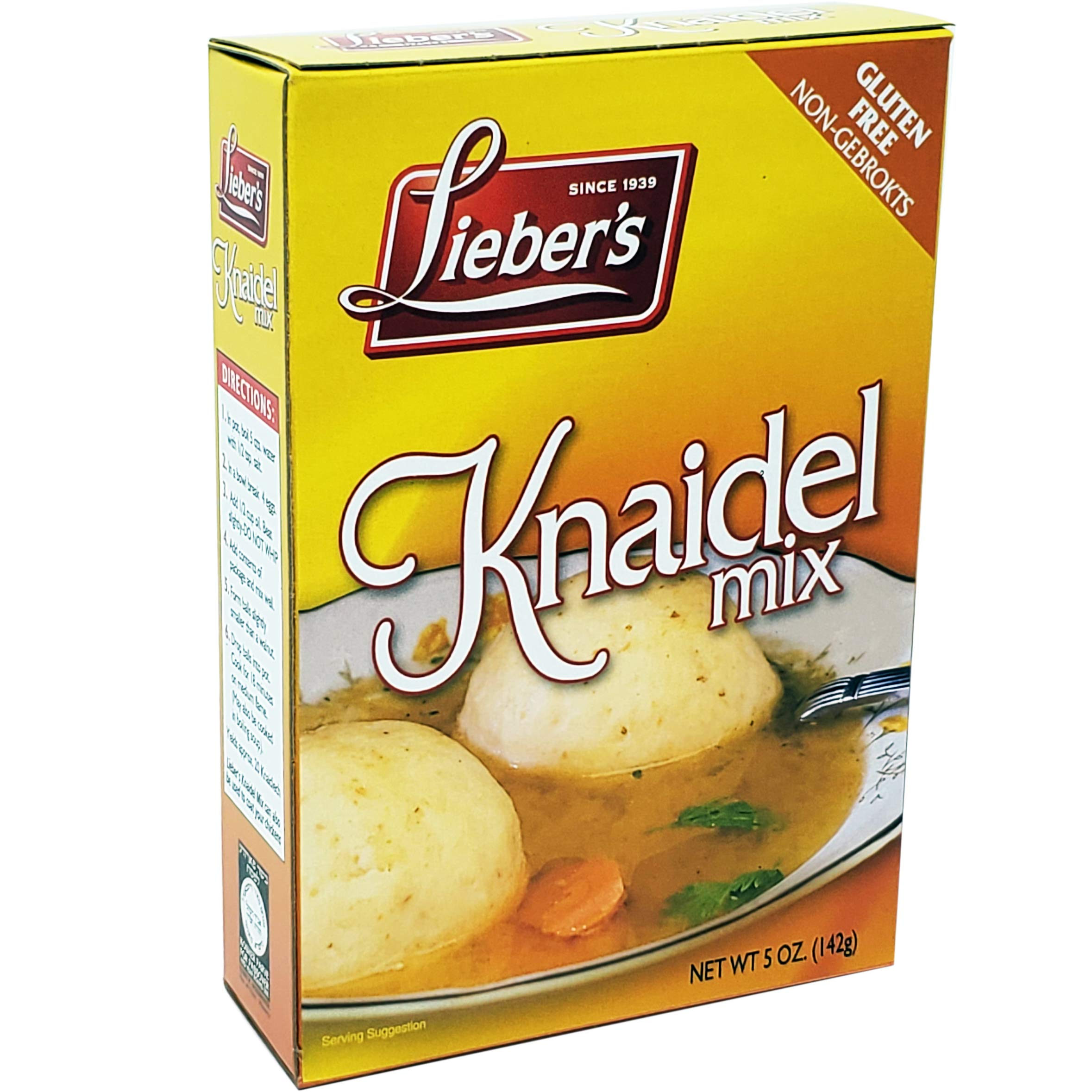 Matzo Ball Knaidel Mix, Gluten Free, Kosher For Passover, 5 Ounce Box (Single) by Lieber's