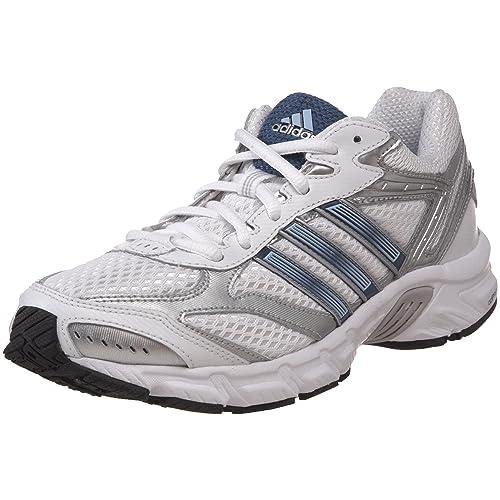 adidas Womens Duramo 3 Running Shoe,Running White/Vision Blue/Metallic Silver,