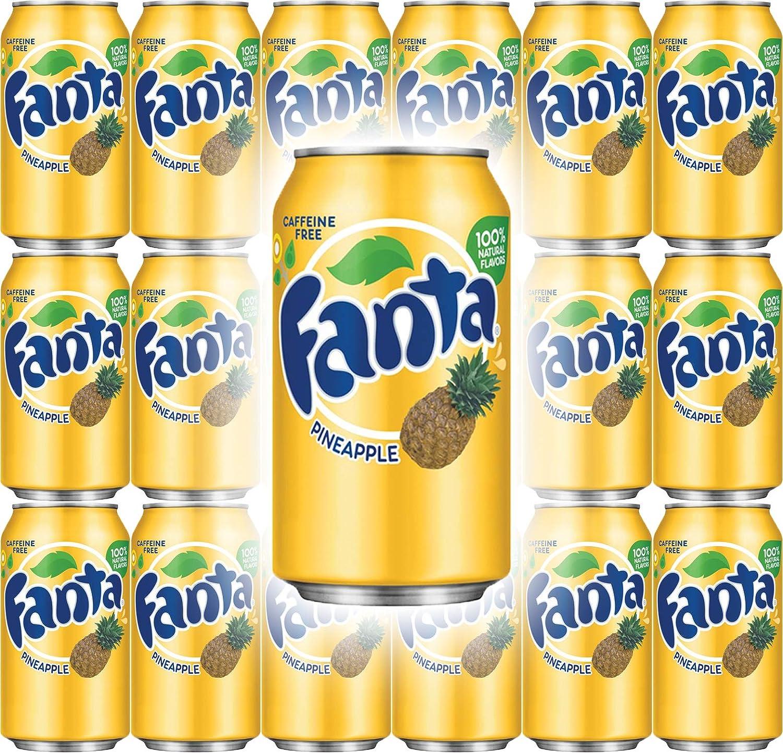 Fanta Pineapple Soda, 12 Fl Oz Cans (Pack of 18, Total of 216 Fl Oz)