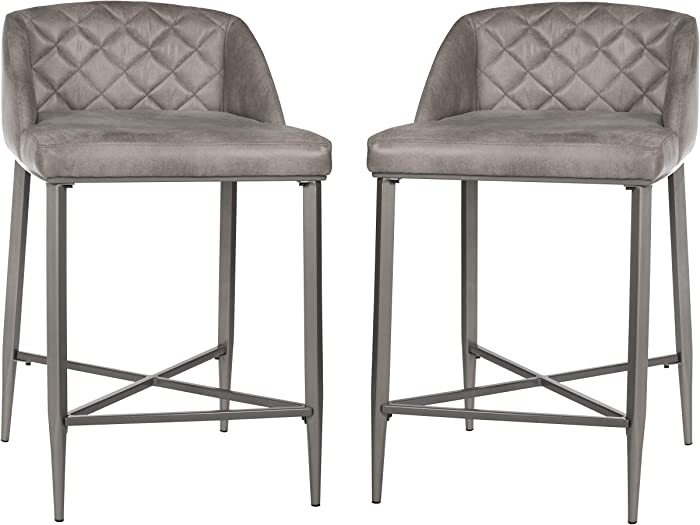 Hillsdale Furniture Phoenix Counter Height Stool (Set of 2), Gray