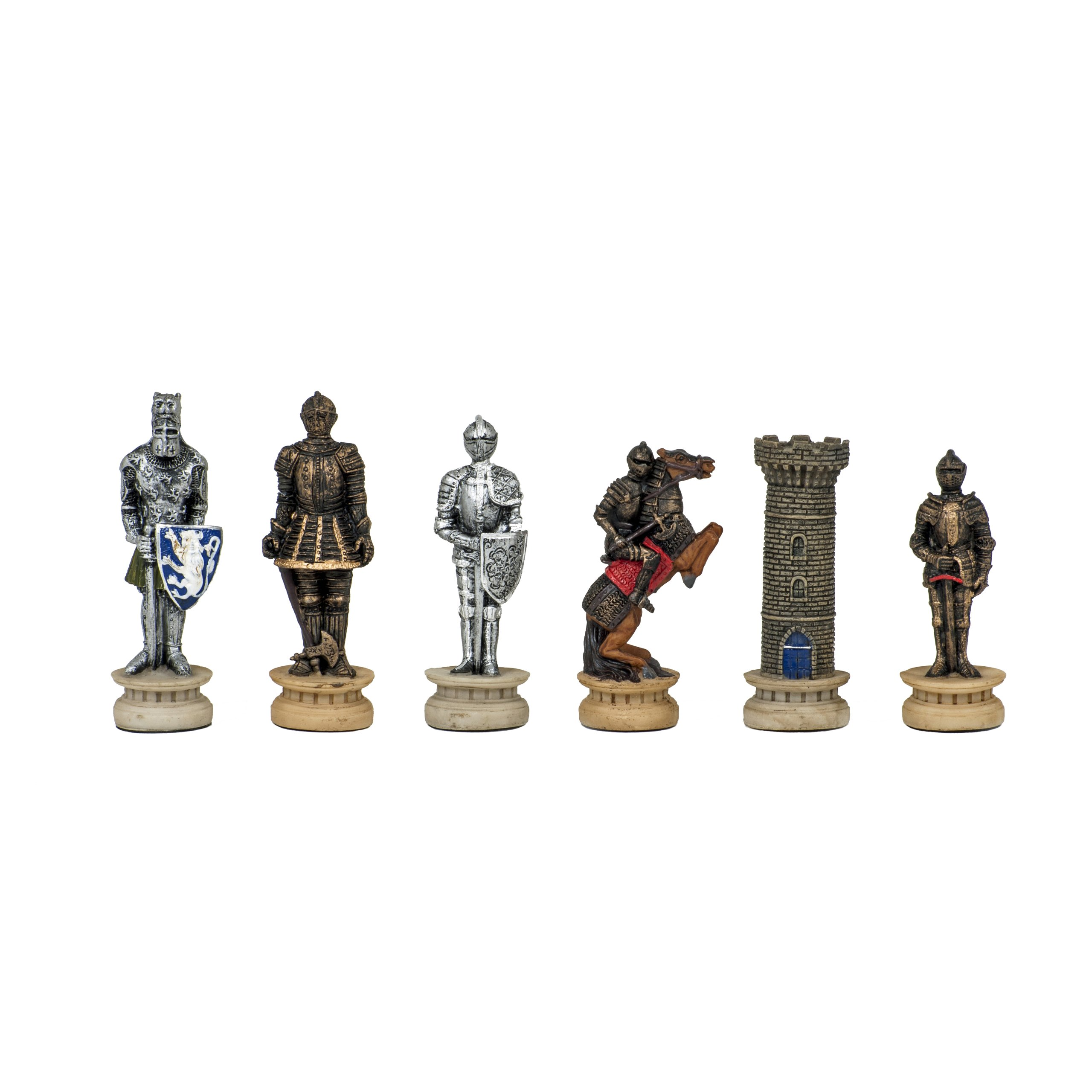 WE Games Medieval Chessmen - Handpainted by Wood Expressions