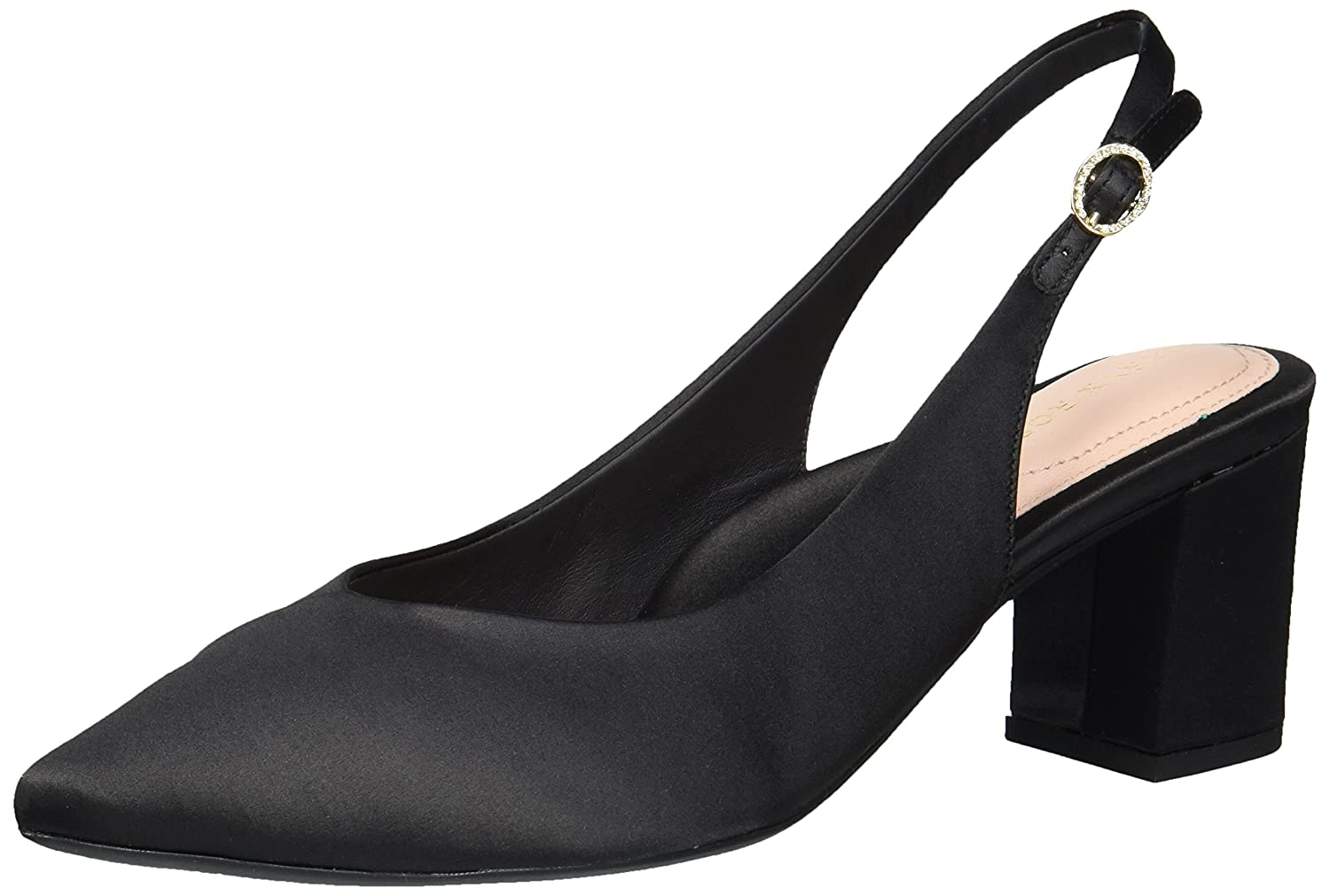 Taryn Rose Women's Marcy Satin Pump B07646LSQF 6 M M US|Black