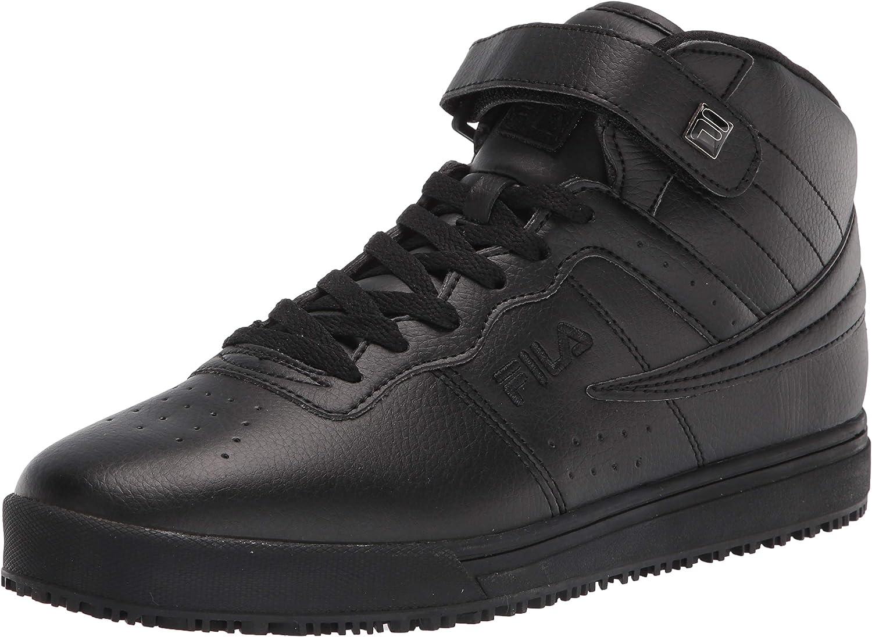 Fila Men's Vulc-13-SR Sneakers Slip Resistant Work Shoes Black