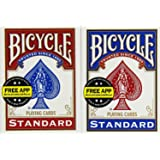 Bicycle Poker Size Standard Index Playing Cards (2-Pack) [Colors Vary: Red and Blue]