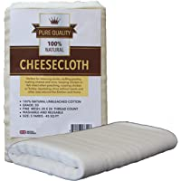Cheesecloth - Unbleached Grade 50 Natural Cotton Cloth - Best for Cooking Food, Making Cheese, Straining Nut Milks…