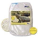 Terrariensand & Terrarienkies NATUR BEIGE weich & rund geprüfte Qualität