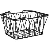 Spectrum Diversified Twist Wire Storage Basket With Handles, Modern Farmhouse Décor, Farmer's Market-Style Wire Basket for Ki
