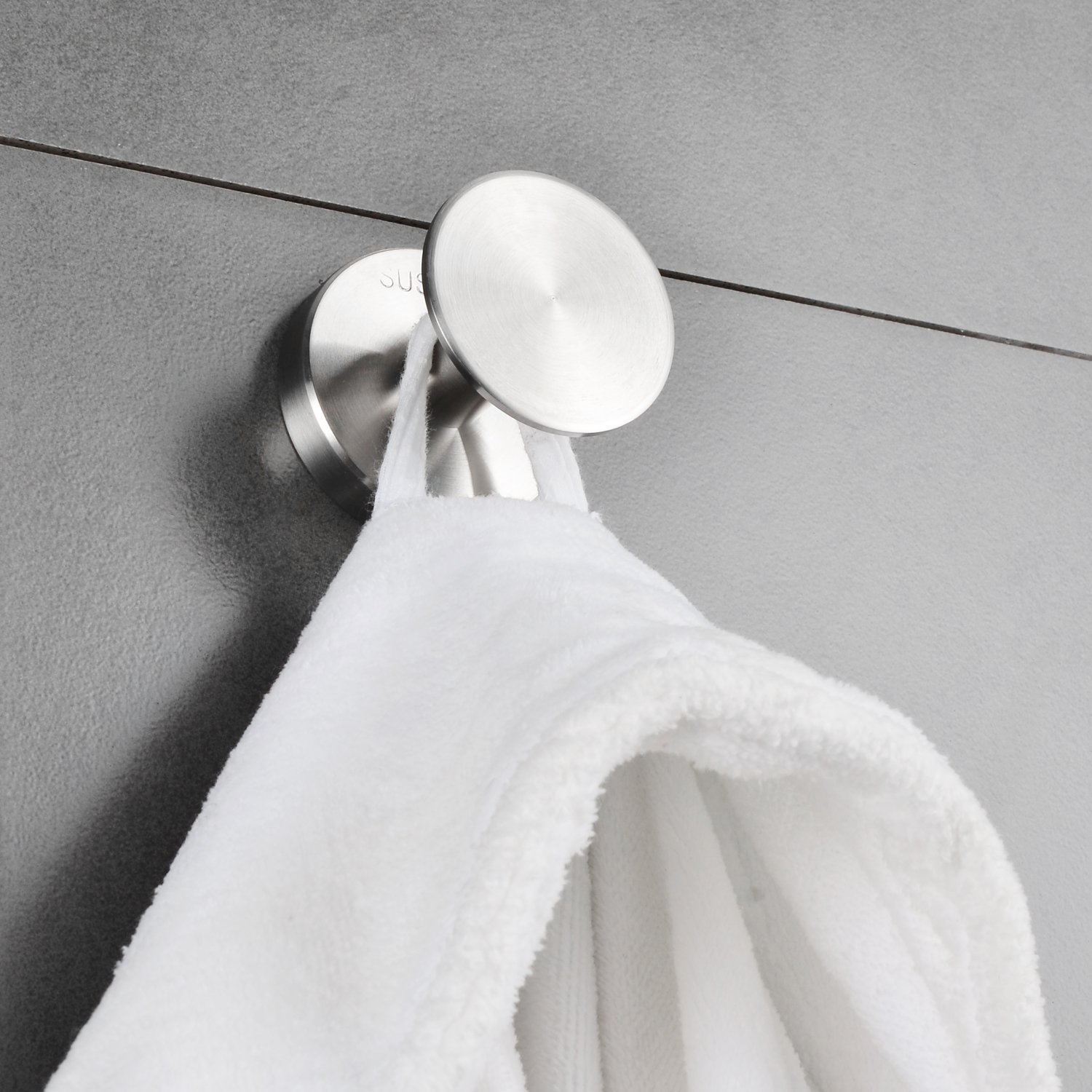 Robe Hook Large Stainless Steel Bathroom Towel Kitchen Hanger MARMOLUX ACC Wall Mount Bath Towel /& Clothes Holder with Hardware Heavy Duty Modern Polished Chrome Bonway Industry
